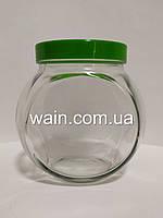 """Банка стеклянная 1730 мл """"Sweet New"""" Everglass для хранения сыпучих и круп с зеленой крышкой, фото 1"""