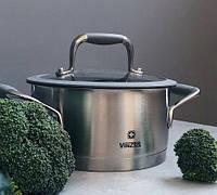 Кастрюля с крышкой Vinzer Profi Series 89185 (5.9 л, Ø 24 см) нерж. сталь | набор посуды | кастрюли Винзер, фото 1
