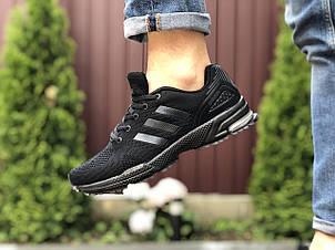 Кроссовки Adidas Marathon,сетка,черные, фото 2