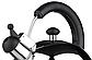 Чайник со свистком Vinzer Bright 89001 (3 л) из нержавеющей стали, бакелитовая ручка | чайник для плиты Винзер, фото 2
