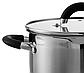 Кастрюля с крышкой Vinzer Progresso Series 89055 (5.9 л) нерж. сталь   набор посуды   кастрюли Винзер, фото 2