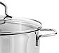 Кастрюля с крышкой Vinzer Techno Series 89083 (5 л) нерж. сталь   набор посуды Винзер   кастрюли, посуда, фото 6