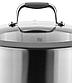 Кастрюля с крышкой Vinzer Profi Series 89185 (5.9 л, Ø 24 см) нерж. сталь | набор посуды | кастрюли Винзер, фото 2