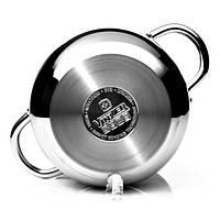 Кастрюля с крышкой Vinzer Grand Majestic Glossy 89161 (2.2 л) нерж. сталь | набор посуды | кастрюли Винзер, фото 1