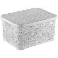 Корзина для хранения мелких вещей Ажур Elif Plastik 377 Белая