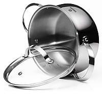 Кастрюля с крышкой Vinzer Culinaire series 89166 (2.4 л) нерж. сталь | набор посуды | кастрюли Винзер, фото 1