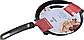 Сковорода блинная Vinzer Cast Classic 89422 (24 см) с антипригарным покрытием   сковородка для блинов Винзер, фото 3