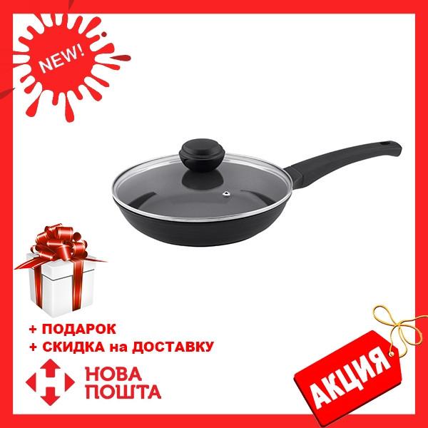Сковорода с крышкой Vinzer Cast Form Line 89407 (24 см) антипригарное покрытие | сковородка Винзер