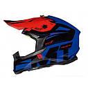 Шлем кроссовый MT Falcon Weston Black/Red//Blue, фото 4