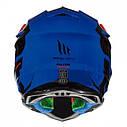 Шлем кроссовый MT Falcon Weston Black/Red//Blue, фото 3