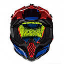 Шлем кроссовый MT Falcon Weston Black/Red//Blue, фото 2