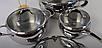 Набор посуды Vinzer Astro 89038 (7 пр.) нержавеющая сталь | кастрюля, кастрюли, сотейник, посуда Винзер, фото 6