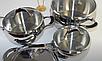 Набор посуды Vinzer Astro 89038 (7 пр.) нержавеющая сталь | кастрюля, кастрюли, сотейник, посуда Винзер, фото 8