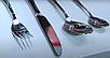 Столовый набор Vinzer Play 89103 (24 предм.)   набор столовых приборов фраже Винзер   ложки, вилки, ножи, фото 5