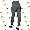 Спортивні жіночі брюки на манжеті сіра трехнитка нитка на флісі, фото 2