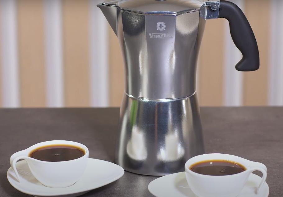 Гейзерная кофеварка Vinzer Moka Aroma 89388 из кованого алюминия на 3 чашки   мока для кофе Винзер