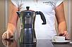 Гейзерная кофеварка Vinzer Moka Aroma 89388 из кованого алюминия на 3 чашки   мока для кофе Винзер, фото 4