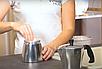 Гейзерная кофеварка Vinzer Moka Aroma 89388 из кованого алюминия на 3 чашки   мока для кофе Винзер, фото 5