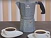 Гейзерная кофеварка Vinzer Moka Granito 89398 из кованого алюминия на 6 чашек | мока для кофе Винзер, фото 2