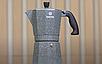 Гейзерная кофеварка Vinzer Moka Granito 89398 из кованого алюминия на 6 чашек | мока для кофе Винзер, фото 8