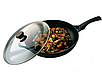 Сковорода с крышкой Vinzer Cast Form Line 89409 (28 см) антипригарное покрытие | сковородка Винзер, фото 3