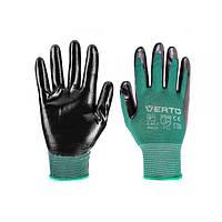 """Перчатки садовые Verto, нитриловое покрытие, 7"""" (97H140)"""