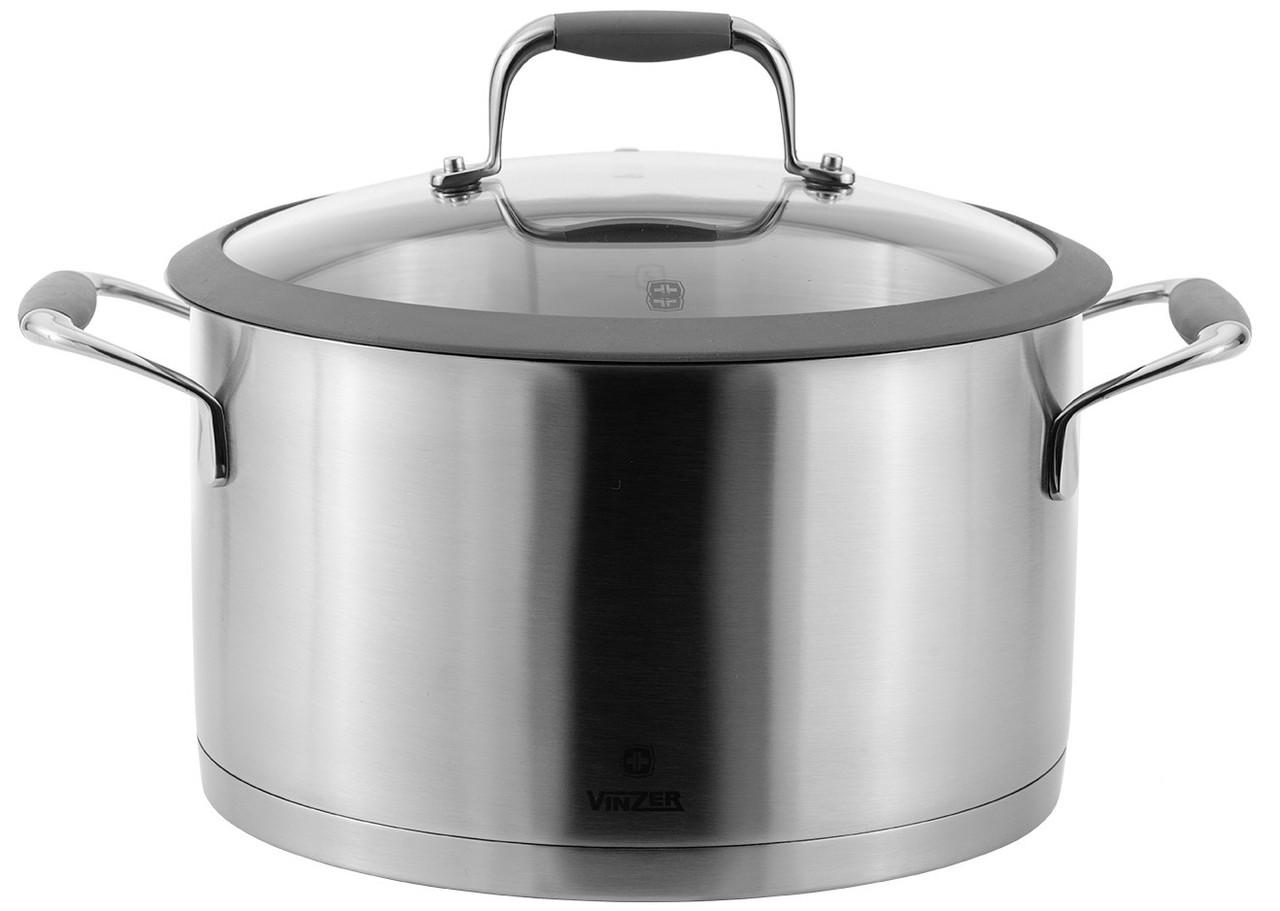 Кастрюля с крышкой Vinzer Profi Series 89183 (2.4 л, Ø 18 см) нерж. сталь | набор посуды | кастрюли Винзер