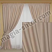 Комплект плотных штор в спальню, зал с нужной высотой, фото 1