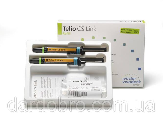 Временный стоматологический цемент для фиксации виниров Telio CS Link Ivoclar Vivadent, 2x6 г
