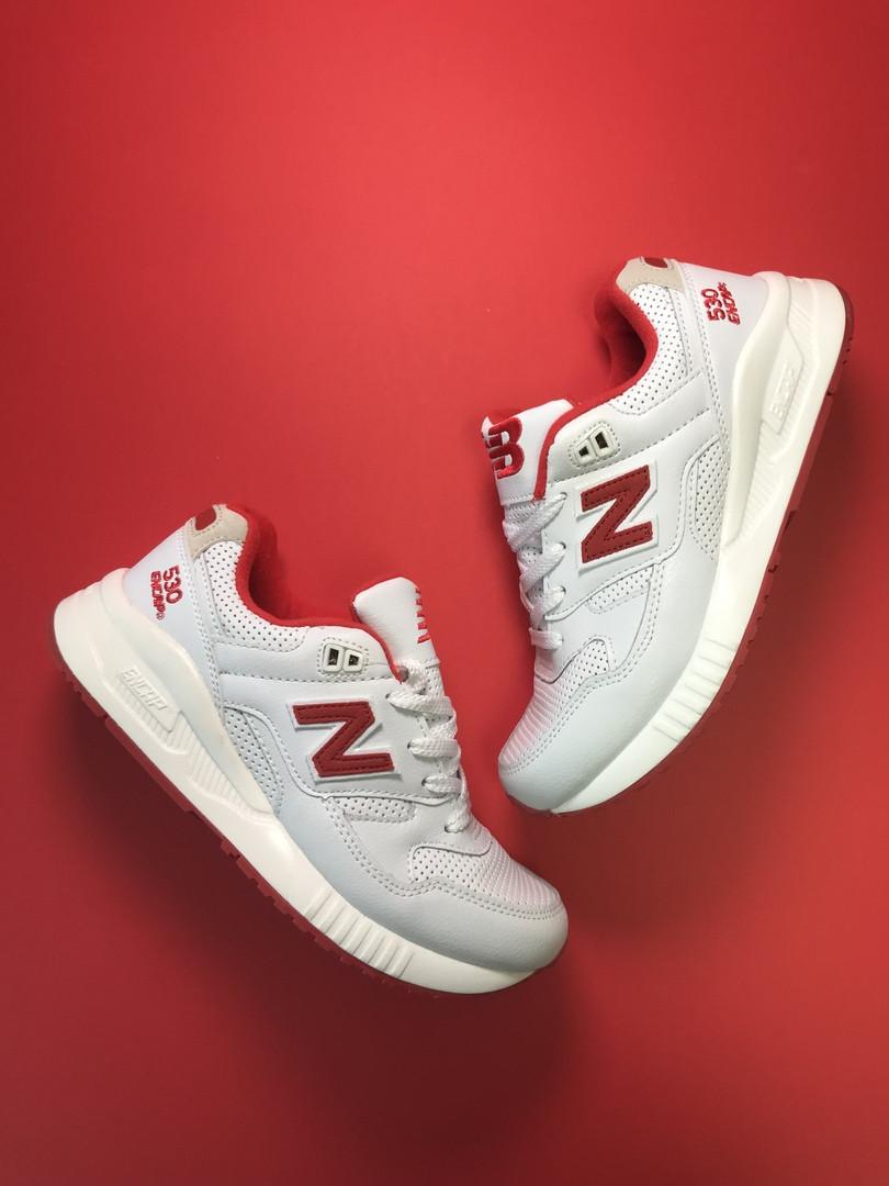 Женские кроссовки New Balance 530 Encap White Red, женские кроссовки нью беленс 530 енкап