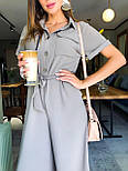 Жіночий літній комбінезон штани кюлоти креп льон (в кольорах), фото 6