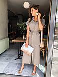 Жіночий літній комбінезон штани кюлоти креп льон (в кольорах), фото 8