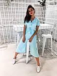 Жіночий літній комбінезон штани кюлоти креп льон (в кольорах), фото 2