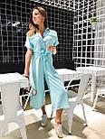 Жіночий літній комбінезон штани кюлоти креп льон (в кольорах), фото 3