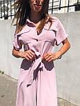 Жіночий літній комбінезон штани кюлоти креп льон (в кольорах), фото 9