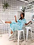 Жіночий літній комбінезон штани кюлоти креп льон (в кольорах), фото 5