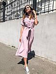 Жіночий літній комбінезон штани кюлоти креп льон (в кольорах), фото 10