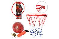 Баскетбол, Баскетбольне кільце в сітці MR 0166 мяч, насос