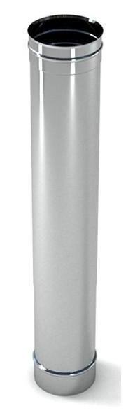 Труба дымоходная (0.3 м., 0.6 мм.) из нержавеющей стали