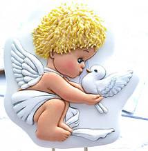 Трафарет + формочка-вырубка для пряника Ангел с голубем