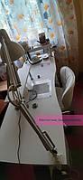 Широкий маникюрный стол с ящиком Карго, УФ-лампой, розетками, полкой и подставкой для рук 2