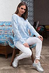 Легкий ажурний пуловер «Стрекоза», 44-48