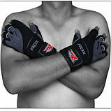 Перчатки для фитнеса RDX Pro Lift Black S, фото 4