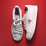 Женские кроссовки Adidas Stan Smith White Red Heart, женские кроссовки адидас стэн смит, фото 2