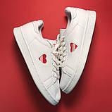 Женские кроссовки Adidas Stan Smith White Red Heart, женские кроссовки адидас стэн смит, фото 3