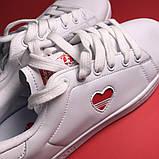 Женские кроссовки Adidas Stan Smith White Red Heart, женские кроссовки адидас стэн смит, фото 7
