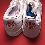 Женские кроссовки Adidas Stan Smith White Red Heart, женские кроссовки адидас стэн смит, фото 8