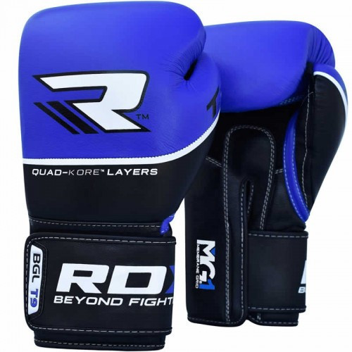 Боксерские перчатки RDX Quad Kore Blue 12 ун.