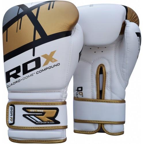 Боксерские перчатки RDX Rex Leather Gold 16 ун.