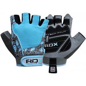 Перчатки для фитнеса женские RDX Blue L